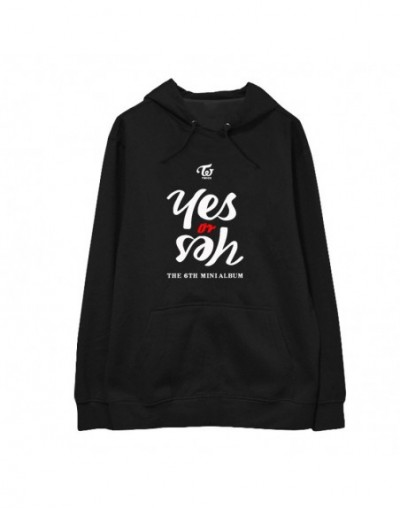 Kpop TWICE MINI 6th Yes or Yes Album Hoodie Hip Hop Casual Loose Hooded Pullover Printed Long Sleeve Sweatshirts WY859 - 4A3...
