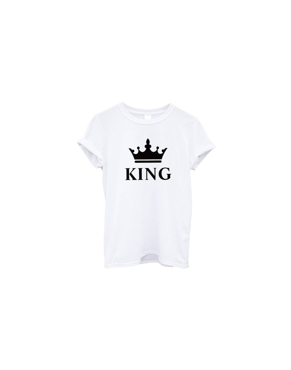 Summer Family Matching Clothing Son and Daughter T Shirt King Queen Father Mom Tops Unisex Short Sleeve Cotton Tshirt Street...