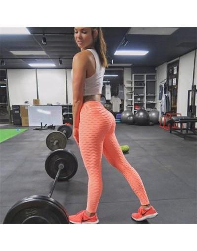 Women Push Up Leggings Elastic Leggings - Orange - 464159536690-13