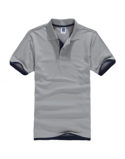New Style 2019 Summer Female Casual Solid Color Polo shirt Women Brand Slim Solid Short Sleeve Shirt Plus Size 5XL - Gray Na...