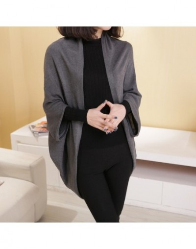 Women'S Fallsweater Batwing Sleeve Swing 2019 New Winter Shawl Bat Sleeve Loose Knit Sweater Casual Cardigan Outwear Sweater...