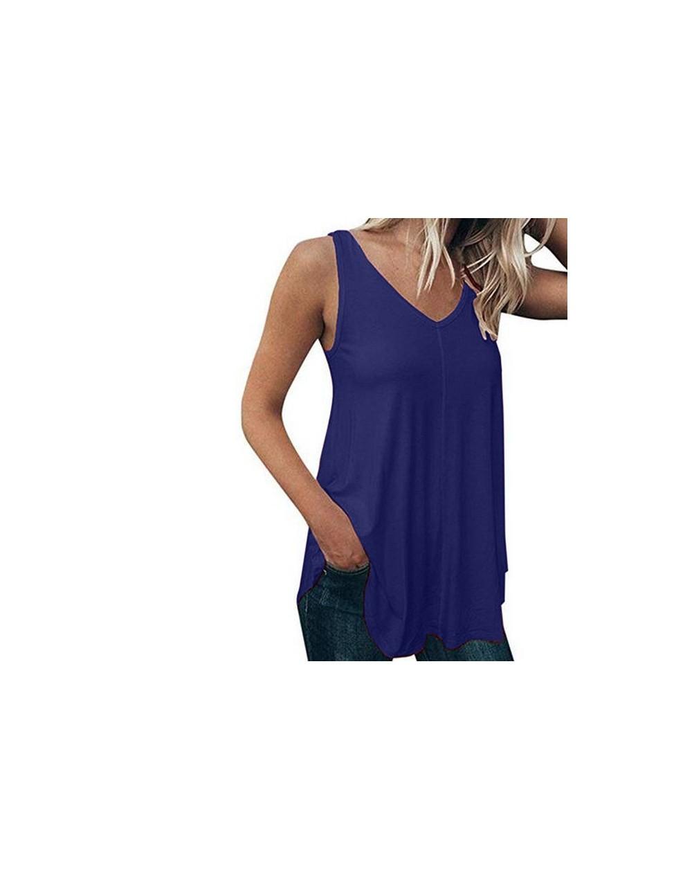 Plus Size 5XL Summer Fashion Casual Pure Color Tops Camis Vest Tee Top Female Women's Sleeveless Shirt Blusas Femininas Clot...