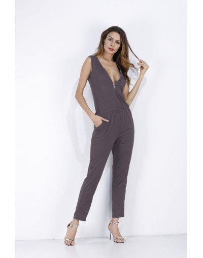Sexy Sleeveless jumpsuit women long romper summer women lady zipper playsuit trousers beach jumpsuit coveralls female frock ...