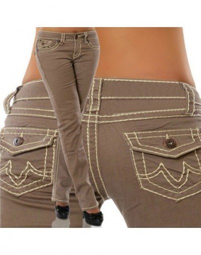 New Fashion 2019 Plus Size Jeans Woman Skinny Pockets Denim Ladies Pencil High Waist Blue Jeans Women Pants Female Trousers ...