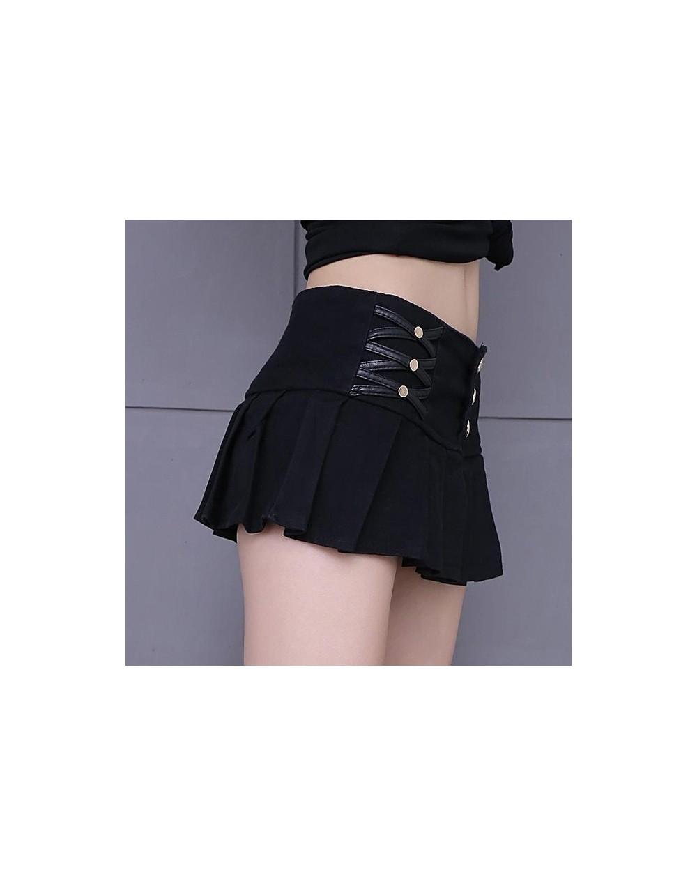 Elasticity Waist Pleated Skirt Shorts Women 2018 New Summer Style All-match Black White Stretch Hotpant Miniskirt Micro Shor...