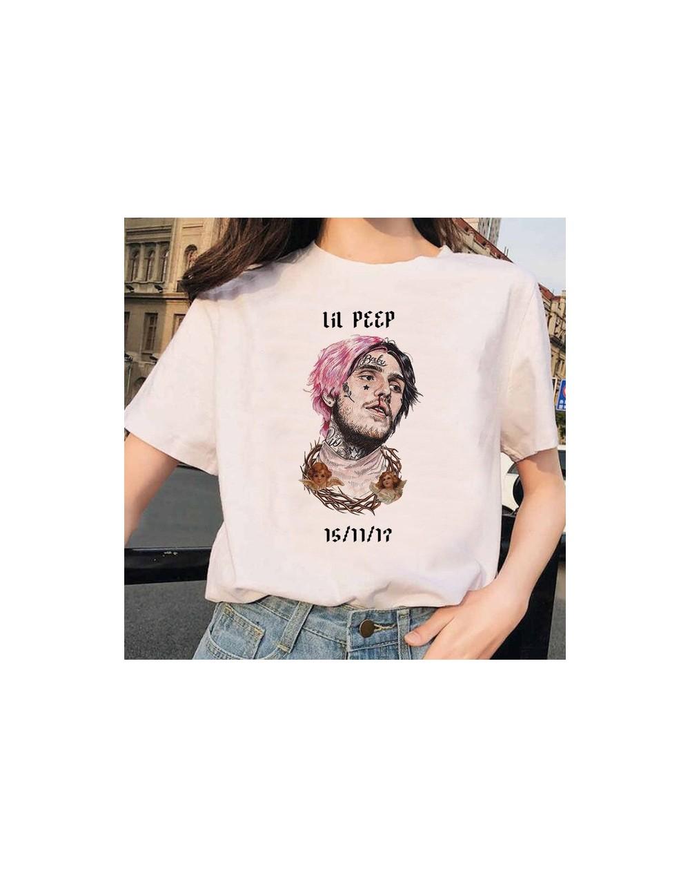 Rapper Lil Peep T Shirt Rap Hip Hop LilPeep Girl Tshirt Women Harajuku 90s Korean Vintage Tumblr T-shirt Graphic Tee Tops Fe...