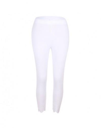 Plus Size S-5XL Printed Leggings Women Sexy Slim Ankle-Length Pants Legging Female Casual Large Size Clothings - White - 4K4...
