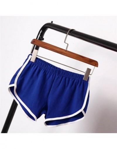 New Summer Shorts Women Casual Shorts Workout Waistband Skinny Short - Blue - 4M3888492292-2