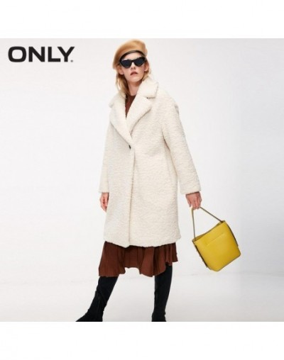 womens' winter new lamb cashmere one-button cotton coat jacket Side pockets One-button design 118322512 - NEW CREME - 4C3075...