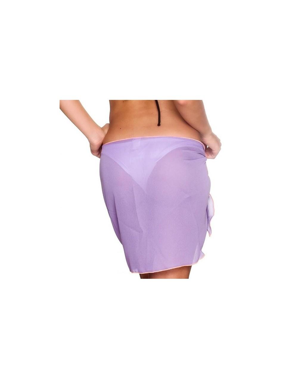 Summer Chiffon Cover Up Sarong Skirts Transparent See Through Night Club Skirt Beach Wear Low Waist Asymmetrical Skirts - D1...