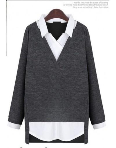 blusas de manga longa large Size Shirts elegant 2018 women Clothing Autumn and Winter Women blouses Formal V-Neck Tops CP119...