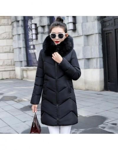 Big fur winter coat thicken parka women slim long jacket winter coat down cotton ladies winter parka down jacket women New 2...