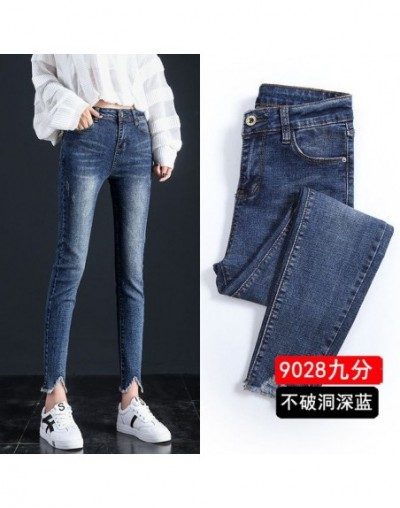 2019 New Ultra Stretchy Blue Tassel Ripped Jeans Woman Denim Pants Trousers For Women Pencil Skinny Jeans - 7 - 444130755497-7