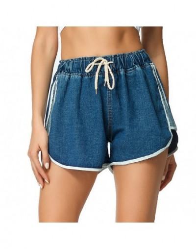 Streetwear Short Jeans Women Korean Style Casual Blue Elastic High Waist Loose Short Denim Shorts Ladies Denim Jeans Feminin...