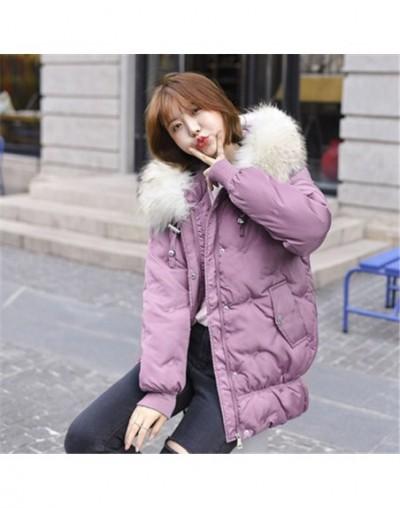 Winter Jacket Women Thick Parka Faux Fur Collar Hooded Outerwear Female Mid-Long Winter Coat Women Down Cotton Lady Jacket C...