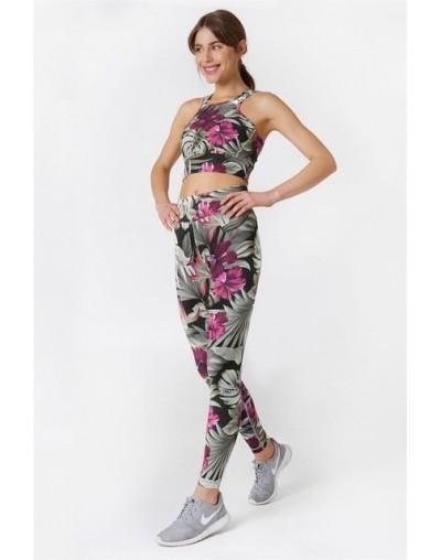 Daffodil Printing Suit Sports Summer Two Pieces Gymwear Designer New Fashion Breathable Elastic Waist Top Leggins Sets - set...