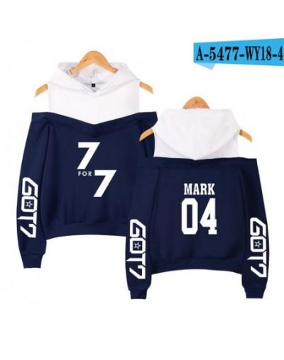 KPOP Got7 k-pop hooded shoodies autumn sweatshirt female winter fashion casual hip hop funny KPOP clothes XS-2XL - navy - 47...
