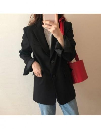 2019 Autumn Office Lady Vintage Women's Blazer Jacket Loose Elegant Thin Suit Coat For Female All Match Black Apricot Blazer...