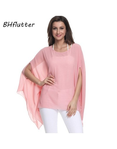 Black Chiffon Tops Women Shirts Plus Size 5XL 6XL 2018 New Arrival Solid Casual Batwing Summer Blouses Chemise Femme - pictu...