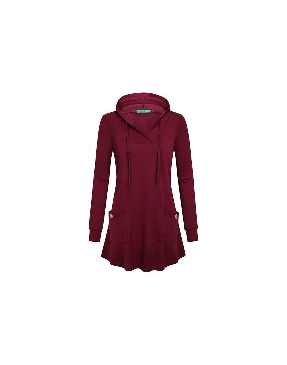 Autumn 2019 Casual Plus Size Black Gothic Streetwear Women Hoodies Slim Hooded Plain Pocket Tops Red Female Fashion Sweatshi...
