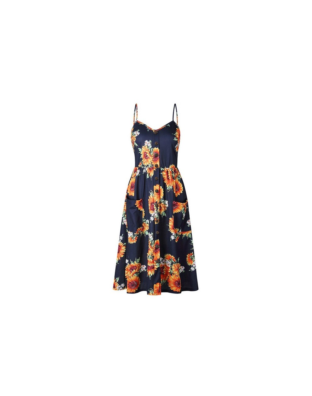 Summer Dress Vestido Vintage Sarafan Bohemian Women Sexy Floral Tunic Beach Maxi Party Dress Summer Robe Pocket Dress Plue S...