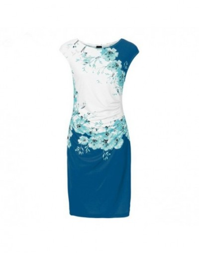 3XL Plus Size Women Summer Dresses Sexy Slim Bodycon Work Dress Short Sleeve Print Package Hip Pencil Office Lady Dress Vest...