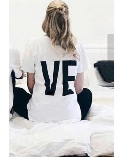 Tee Shirt Women Men T Shirt Cotton LO VE Red Basic High Quality T-shirts Female Casual Tops Short Sleeve O Neck Femme 2019 O...