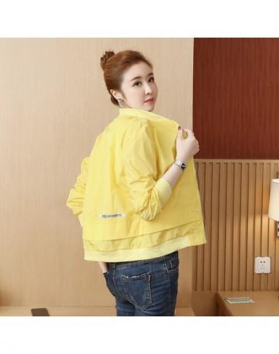 3223 2019 Spring Summer Thin Windbreaker Short Coat Sunscreen Jacket Women Slim Casual Baseball Coat Korean Style Stand Coll...