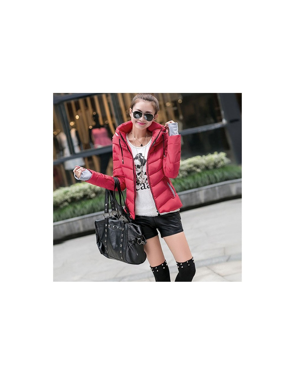 M-3XL New Fashion Autumn Clothes Cotton Coat Winter Slim Fit Short Wadded Jacket Outerwear Women Hood Female Winter Coat 619...