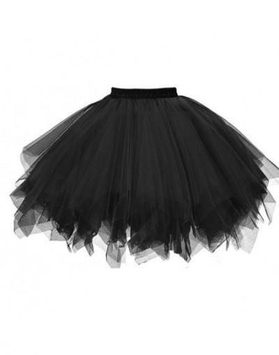 Womens High Quality Pleated Gauze Short Skirt Adult Tutu Dancing Skirt Grenadine Bust Bubble Skirt vetement femme 2018F - Bl...