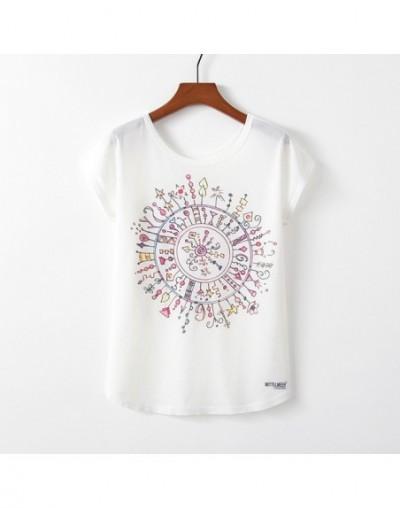 Spring Summer Women T Shirt Novelty Harajuku Kawaii Cute Style Flower Print T-shirt New Short Sleeve Tops Size M L XL - TP11...