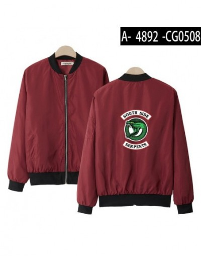 Riverdale Thin Jacket Women Fashion Casual Thin Jacket Women Exclusive Harajuku Hip Hop New Style Casual Clothes - red - 4C3...