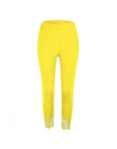 MIND FEET S-5XL Elegant Plus Size Women Casual Pants Slim Skinny Hollow Out Leggings Thin Print Trousers Lady Pencil Pants -...
