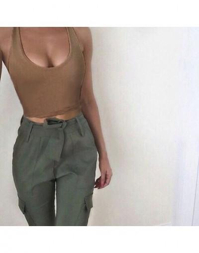 Charmed New Women Sleeveless Tank Cami Crop Fitness Vest Solid O neck Summer Halter Bralette Tops Cortos Verano Mujer qz* - ...
