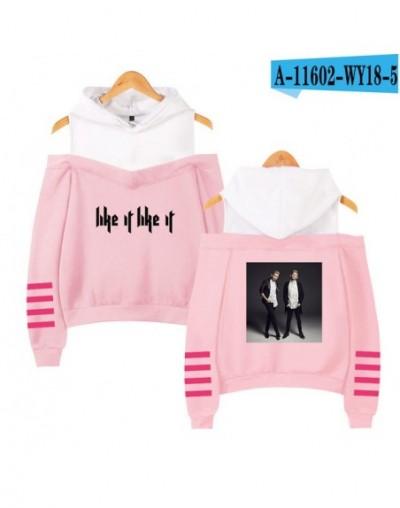Marcus Martinus Off-shoulder Hoodies Sweatshirt Solar system 2018 New Fashion Women Exclusive Kpop Sexy Wear Custom - pink -...