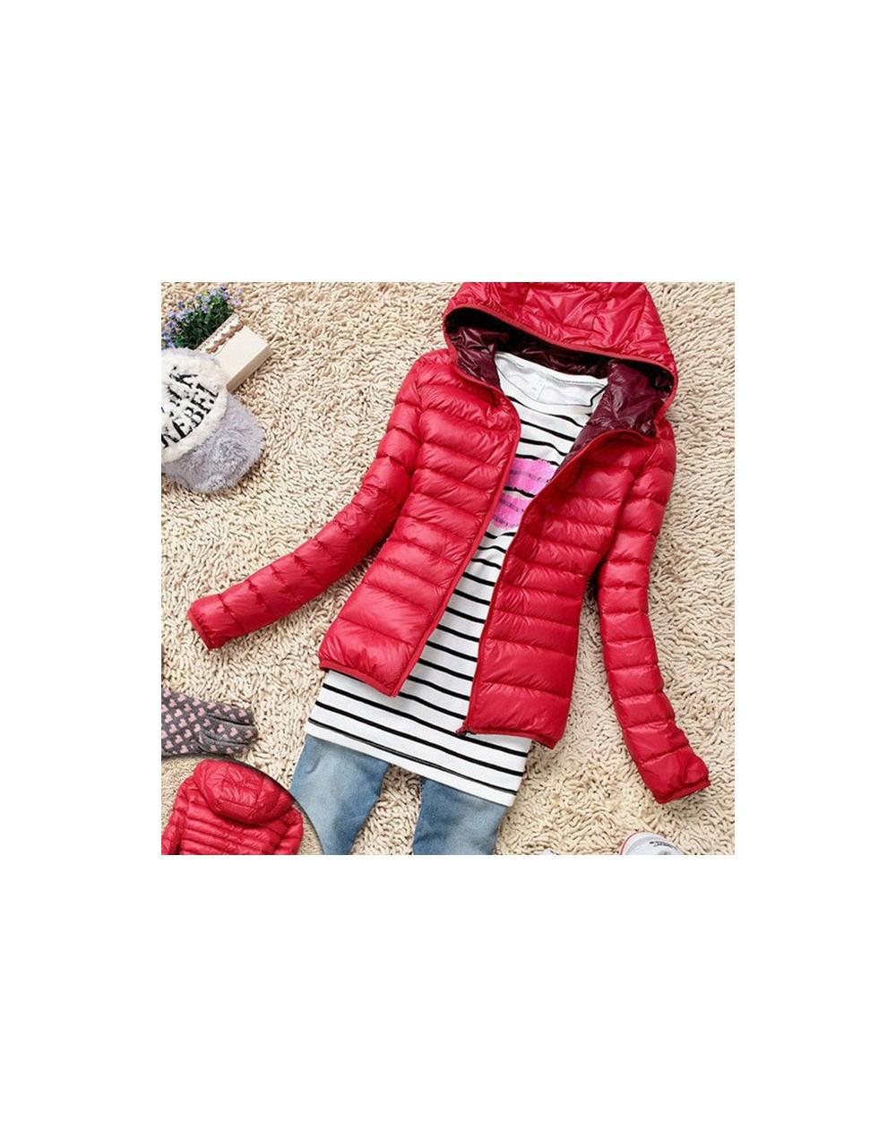 2019 Fashion Ladies Down Short Coat Winter Cotton-padded Jacket Women Slim Solid Zipper Outerwear jackets female hooded clot...