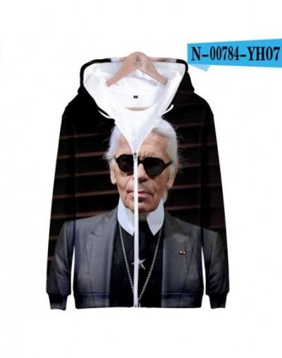 LuckyFriday Sweatshirts Karl Lagerfeld 3D Zipper Sweatshirt Harajuku Tracksuit Loose Hoodie Sweatshirts Women Clothes 2019 -...