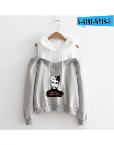 Xxxtentacion 2018 Fashion Printed Hoodies Women Long Sleeve Off-Shoulder Hooded Sweatshirts Hip Hop Rapper Streetwear Clothe...