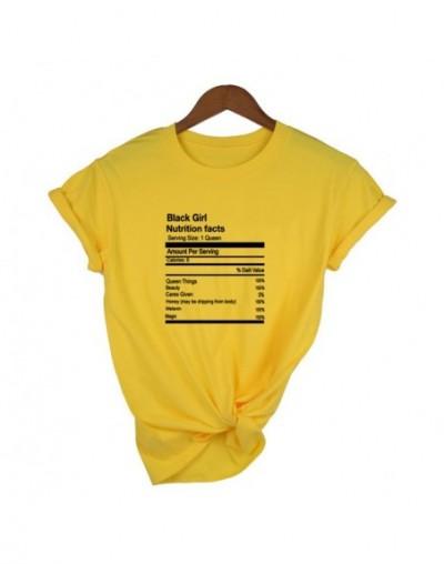 Women Summer Tumblr Quotes Shirts Black Girl Nutrition Facts T-shirt Women Melanin Shirt Queen Nutrition Facts Shirt Humor T...