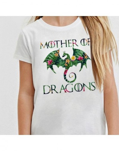 Plus Size Mother of Dragons Tshirt Women Game of Thrones TV and Movie T Shirts Khaleesi Camiseta Dracarys Mujer Tee Shirts -...