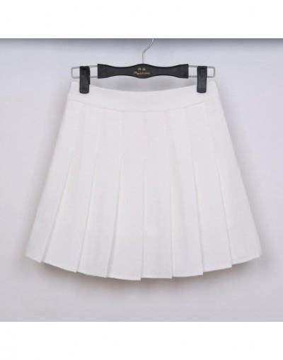 2018 New Spring high waist ball pleated skirts Harajuku Denim Skirts solid a-line sailor skirt Plus Size Japanese school uni...