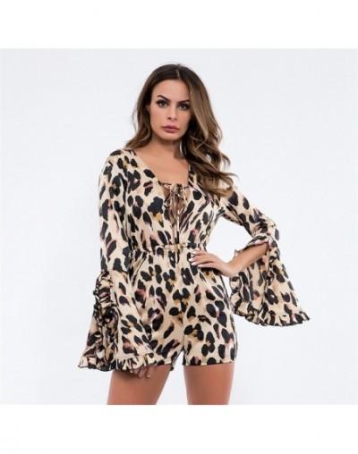 Spring Sexy V Neck Leopard Print Flare Dress Women Elegant Sashes Ruffles A-line Party Style Vintage Ladies Mini Dresses New...