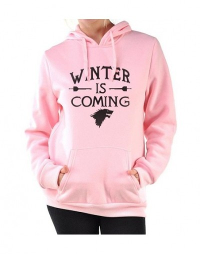 Funny winter is coming pink tracksuits Women harajuku bodybuilding sweatshirts 2019 female Game of thrones hoodies pullovers...