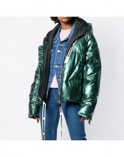 Winter Jacket Plus size Women 2019 Hooded Parka Fashion Bright Down Jacket Thicken Cotton Coat Female Short Jackets Bomber H...