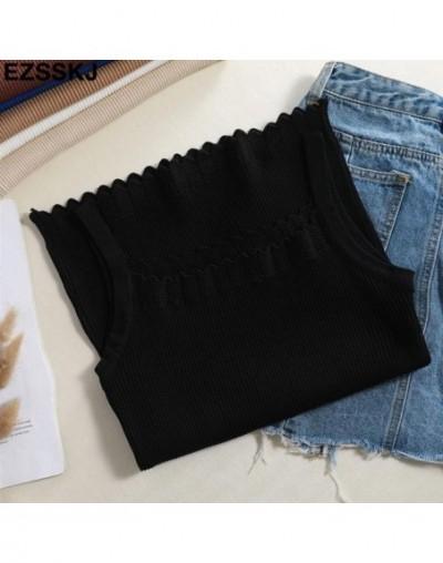 2019 summer knit Tank Tops Women sexy girls camisole slash-neck top sleeveless t shirt short female basic camis high quality...