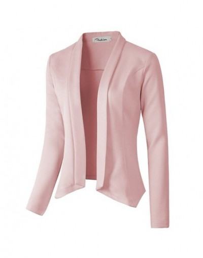 Open Front Short Cardigan Suit Jacket Work Office Coat Female Jacket Manteau Femme Hiver Women Full Sleeve Blazer - J0851-B1...