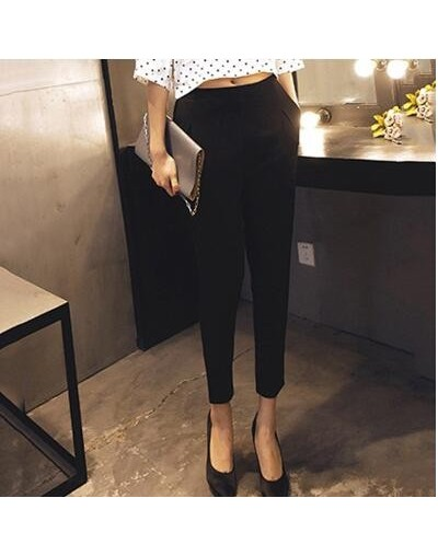 2018 Spring Summer High Waist Pants For Women Harem Ankle-Length Pants Solid Color Red Trousers Female Casual Loose Fashion ...