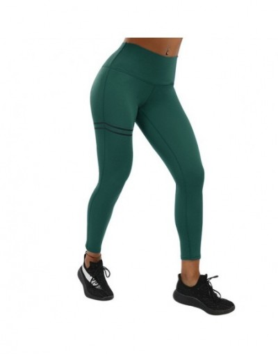 Women High Waist Fitness Activewear Leggings Women Pants Patchwork Workout Legging Stretch Slim Sportswear Jeggings - Darkgr...