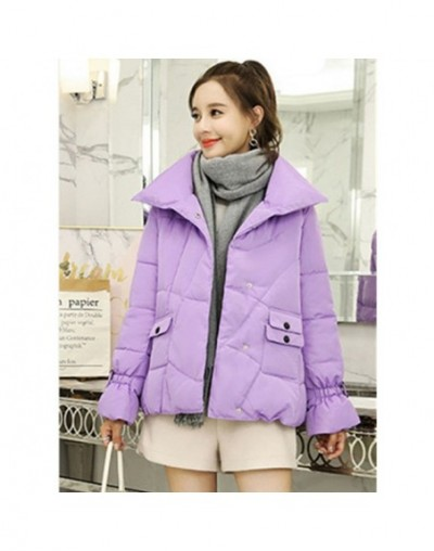 Harajuku Short Winter Down Jacket Woman Fashion Standing collar Down Cotton Women Coat Thicke Warm Plus size Outerwear736 - ...