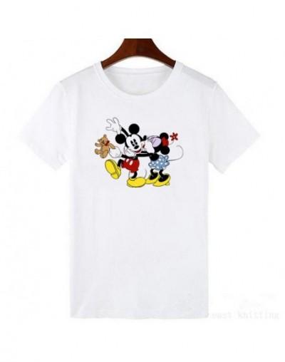 Women t-shirts Cartoon Middle Finger Print O-neck Striped t shirt Fashion Female t-shirt Crop Top - 461 - 2K063840564-14
